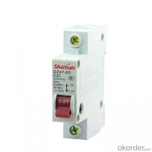 1p 25a Miniature Circuit Breaker Mcb Electrical Circuit Breaker Mini Circuit Breaker