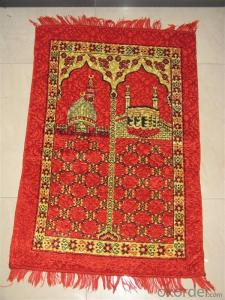 Hot Sale Muslim Prayer Rug Mat Cheap and Portable with Compass for Traveling