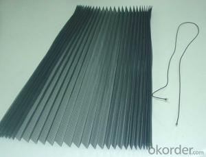 Width 1.0-3.0m/Length 20-30m/pc Black/Gray Color Plisse/Pleated Insect Screen Mesh