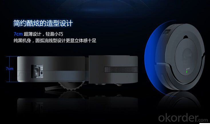 Robotic Vacuum Cleaner with LED Light, Multiple Modes