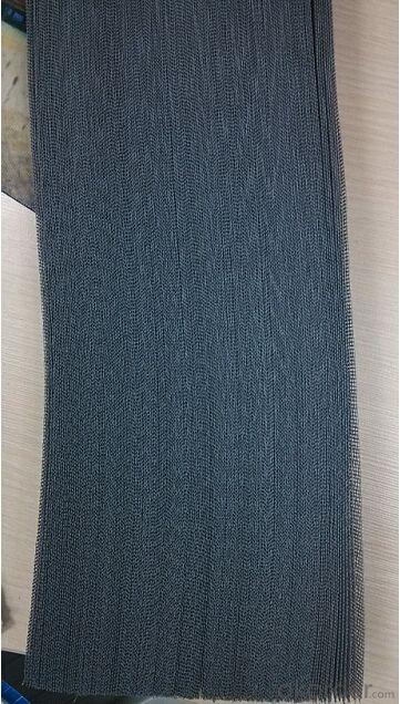 Polyester Plisse Mesh 18*16/inch Width 1.0-2.7m Black or Grey Color