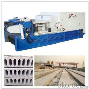 Pushing Method Concrete Hollow Core Slabs Production Line