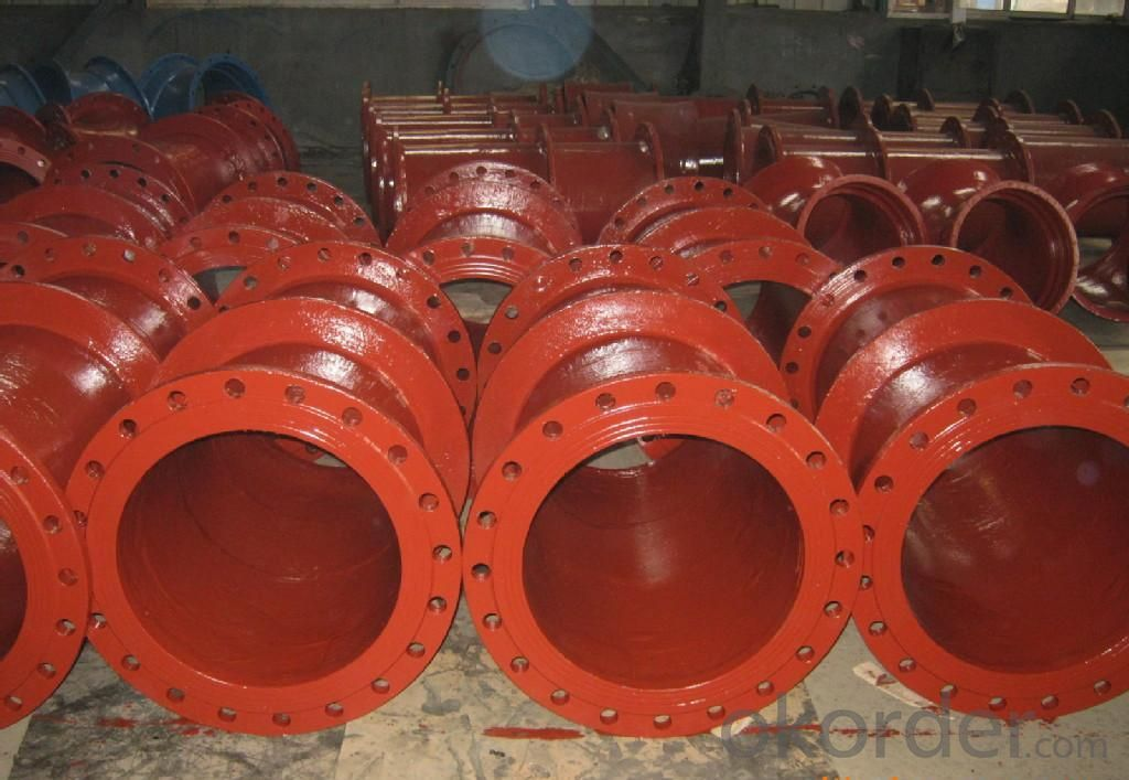 Ductile Iron Pipe Fittings All Flanged Tee ISO2531/EN545 Made In China DN1600