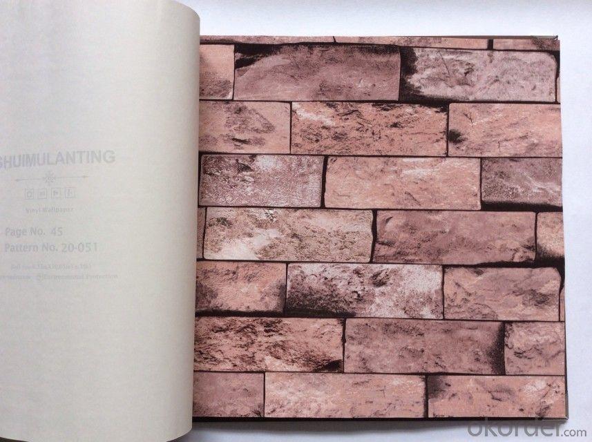 Buy pvc wallpaper 3d brick design waterproof vinyl for Wallpaper pvc 3d