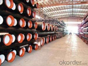 Ductile Iron Pipe and Fitting DN100-800 Class30 EN545