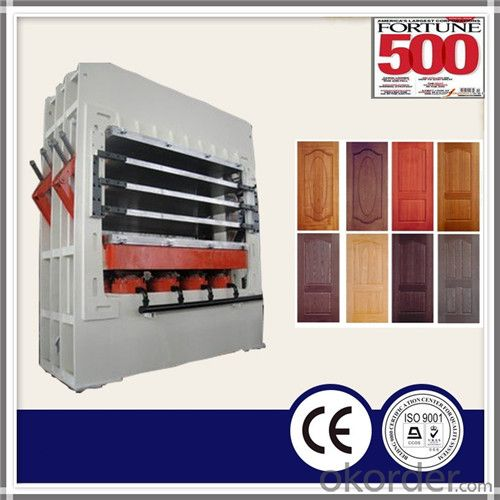 Cheap High Pressure Melamine Door Skin Hot Press Machine