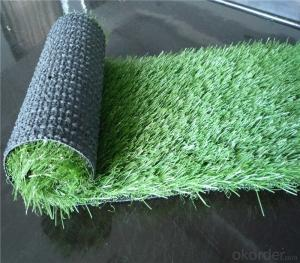 PE Monofilament Yarn Field Green Soccer Artificial Grass 3/4'' Gauge , Height 20mm to 50mm