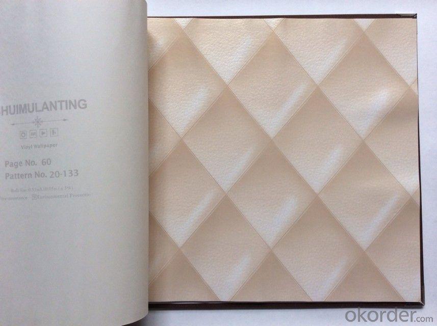 PVC Wallpaper Vinyl Covered Tasteful PVC Leather Wallpaper for Interior Decoration Use