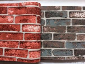 PVC Wallpaper Vinyl Covered Brick Wallpaper 3D Stone Wallpaper from Top Manufacturer