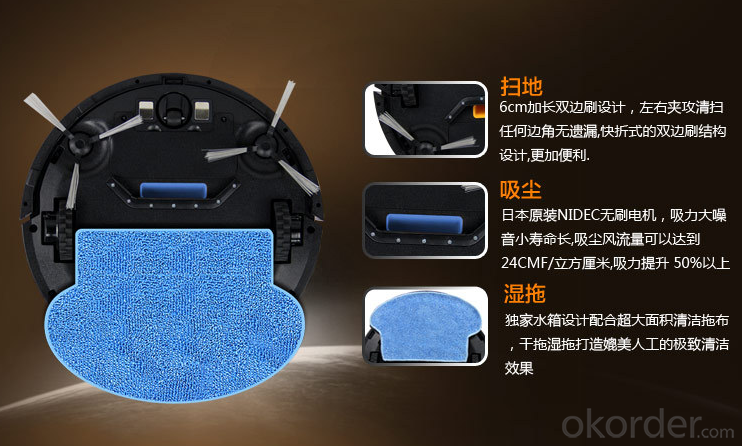 Robotic Vacuum Cleaner for Home APP Bluetooth Remote Control