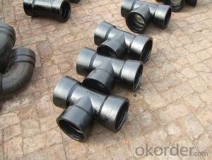 Ductile Cast Iron Pipe Fittings Flanged Socket GGG40 DN1400 EN598 Bitumen Coating