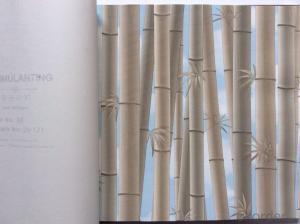 PVC Wallpaper Vinyl Covered Bamboo Pattern Wallpaper for Background