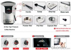 Semi Automatic Coffee Machine Espresso Coffee Maker supplied by China