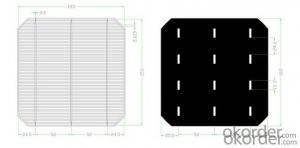4W B Grade 156*156mm Polycrystalline Solar Cell