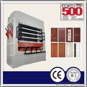 Wooden Door Skin Manufacturing Hot Press Machine
