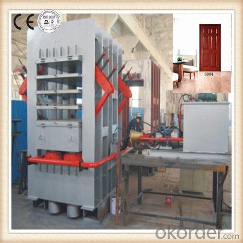 Door skin veneering heat press machine / HDF veneer door skin press machine