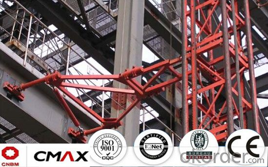 Building Hoist Hot Galvanizing Spare Parts Mast Section with 6ton
