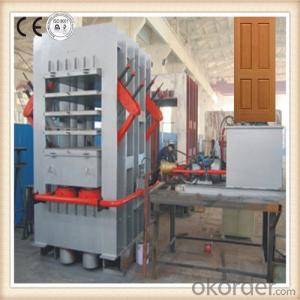 Wood Panel Door Hot Press / Wood Door Laminating Hot Press Machine in China