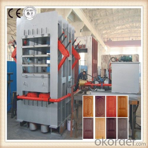 Multilayers HDF Door Skin Lamination Press Machinery