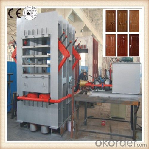 Wooden Based Door Laminating Hot Press Machine