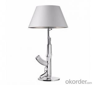 Reading Table Lamp Hotel Decorative Lighting  Gun With Black or Silver Shade