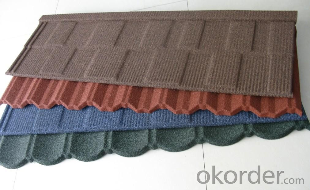 Shingle Stone Chip Coated Metal Roofing Tile