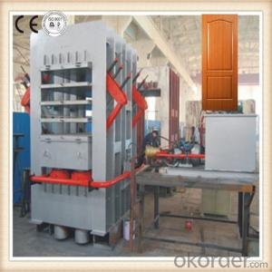 Melamine Door Skin Press Machine / Four-layer Door Surface Veneering Machine