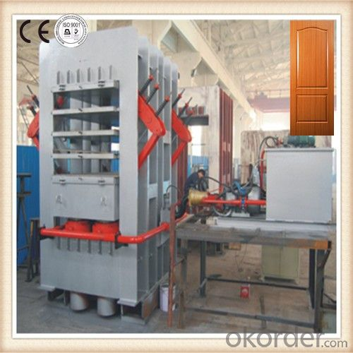 Laminated Veneer Door Skin Hot Press Machine