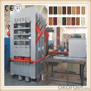 Multi-layer Melamine and Natural Wood Door Face Press Machine
