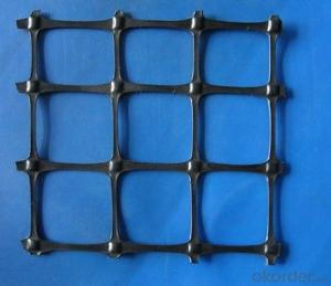 Plastic Uniaxial Geogrid with CE Certificate for Road Construction