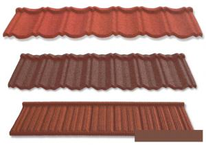 Shake Colorful Stone Coated Metal Roofing Tile