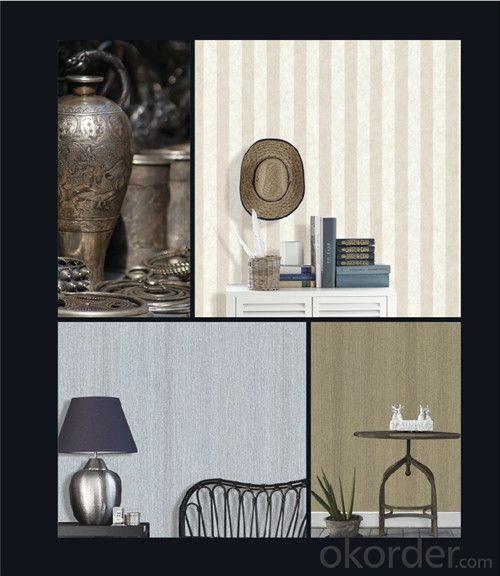 Fabric Backed Wallcovering Elegant Bedroom Decorative PVC Vinyl Wallcovering