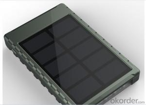 Power Bank Solar Charger 5000mAh with Rotated Torch