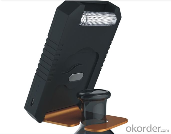 Solar Power Bank Front and Back Can be Kickstand&Stand on Red Wine Bottle