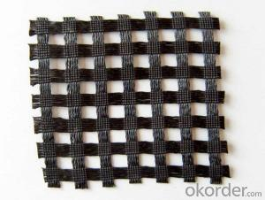 High Tensile Strength Fiberglass Geogrid with CE Certificate for Road Construction