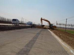 HDPE Uniaxial Geogrid with CE Certificate for Road Construction