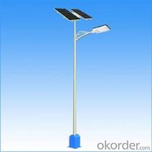 Solar panel LED street light