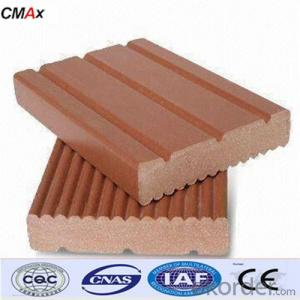 Extruded Plastic Composite Decking with SGS and CE From China