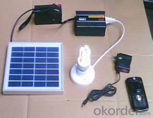 Solar Panel and Lamp Mobile Phone Charging Solar System