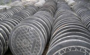 Ductile Iron Manhole Covers EN124 Round for Sale