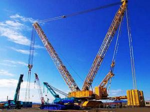 Electric Crawler Crane Boom Crane Mobile Crane QUY70 70 Ton