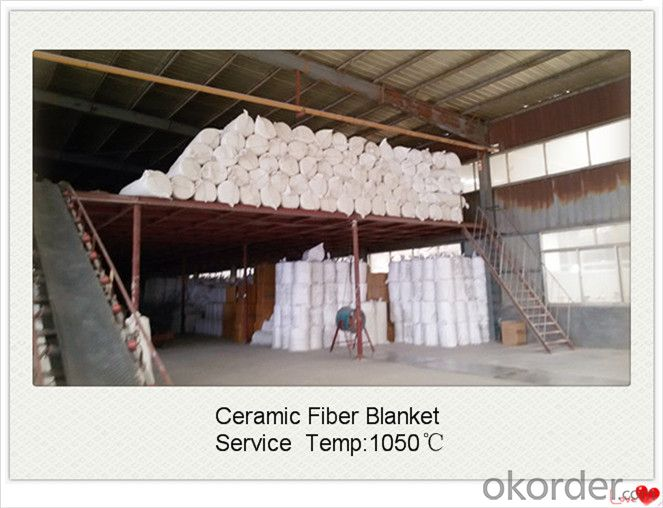 High Temperature 1600c Polycrystalline Mullite Ceramic Fiber Blanket for Iron Making Furnaces