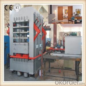 Door Skins Veneering Laminating Hot Press Machine