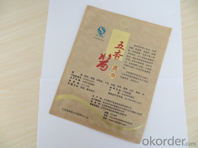 Food Grade CPP or PP Laminated with Craft Paper Bag for Packing