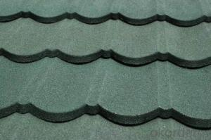 Colorful Stone Coated Steel Roofing Tile