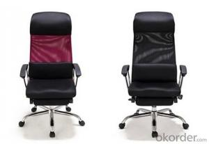 Office Functional Chair Black and Red Color