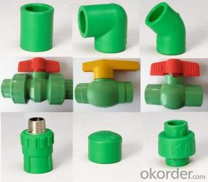 PPR All Plastic Fittings Pipe Plastic Material Thread Plug DIN 8077/8078
