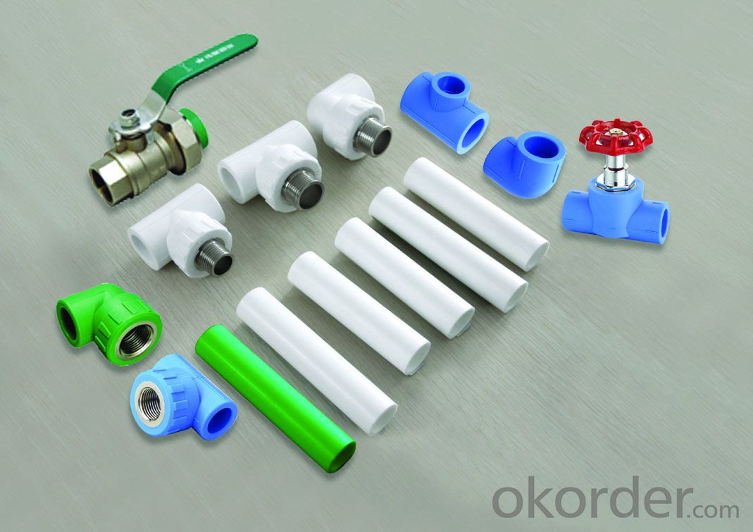 PPR All Plastic Fittings Pipe Plastic Material Equal Tee T20-110