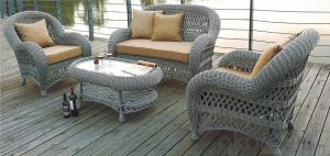 Patio Set with Cushions 4 Piece in Coffee