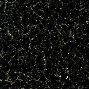 Polished Porcelain Tile The Black Color CMAXTT36047